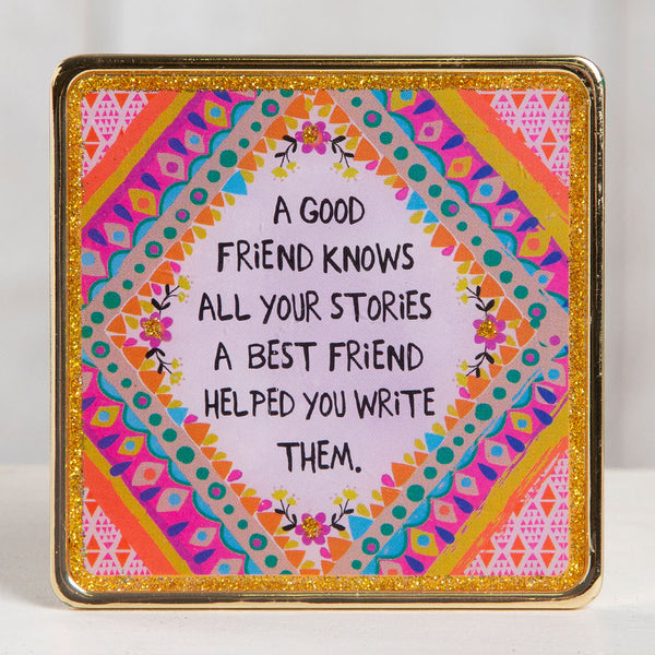 "Glitter & Gold Keepsakes ""Good Friend/Best Friend"""