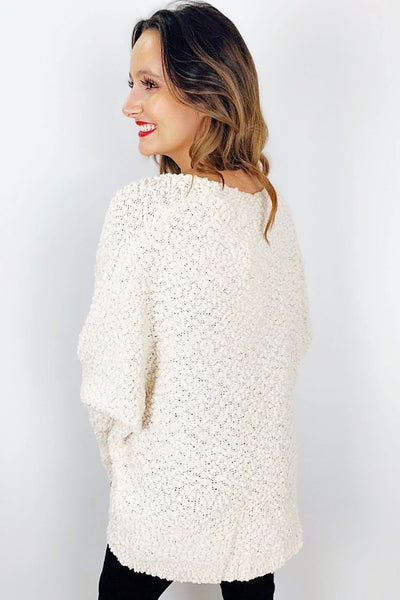Keep it Cozy Sweater - Cream