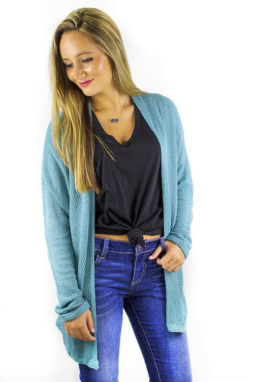 Knitted in Warmth Cardigan - Jade