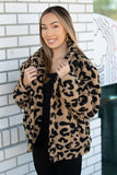 Left In The Wild Animal Print Jacket - Taupe