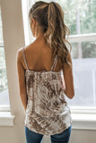 Let's Be Friends Tie-Dye Surplice Cami Top - Mushroom