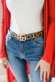 Let's Get Wild Leopard Print Belt - Natural