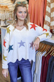 Light the Sky Star Print Sweater - Natural