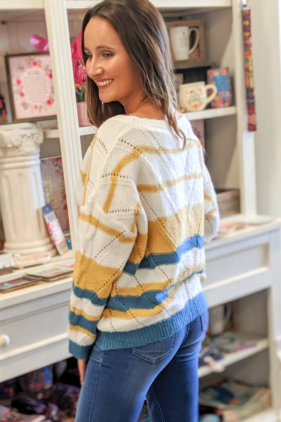 Longing for You Striped Sweater - Jade