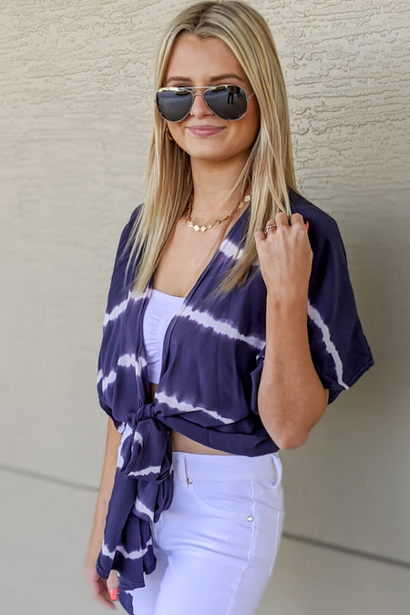 Show Your Colors Printed Maxi Dress - Navy Combo