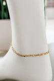 Mini Chain Layer Anklet - Gold