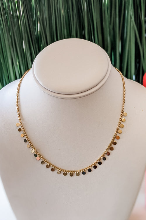 Multi Disc Choker - Gold