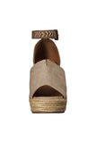 Not Rated: Leif Espadrille Wedges - Taupe