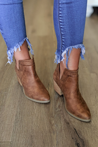 Not Rated: Shaina V-Cut Booties - Camel