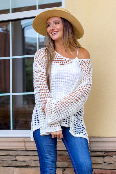 Ocean Escape  Top - Cream