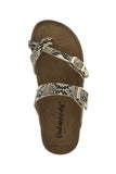 Octavia Double Buckle Sandals - Beige Snake