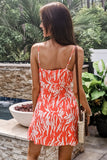 Passionate Summers Printed Wrap Dress - Electric Coral