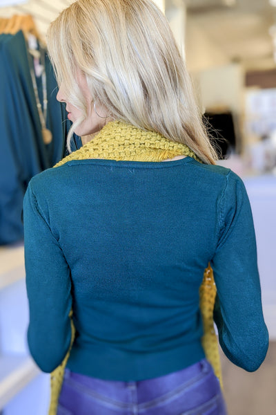 Quick Comforts V-Neck Cardigan - Hunter Green