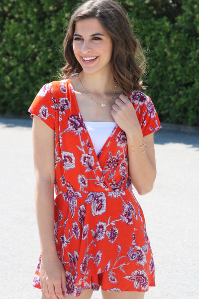 Radiant in Red Romper