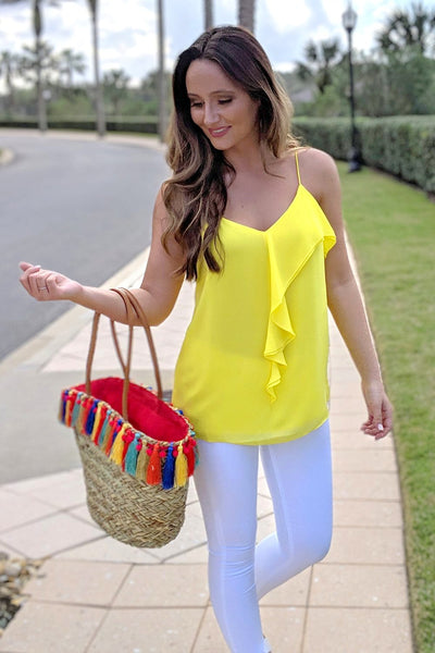 Ready & Ruffled Top - Buttercup