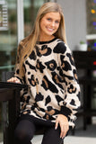 Ready to Pounce Leopard Print Sweater - Beige