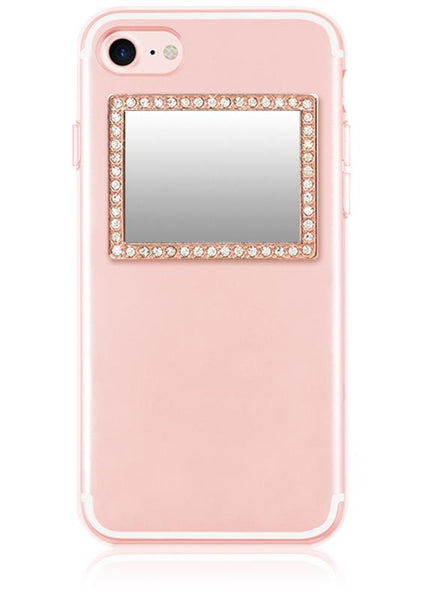 Rose Gold Rectangle with Phone Mirror