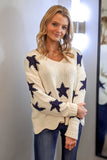Search the Sky Star Print Sweater - Cream