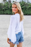 Seaside Beauty Wrap Top - White