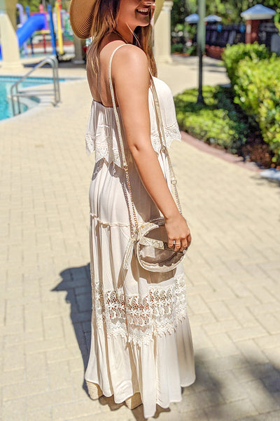 See My Heart Lace Maxi - Ivory