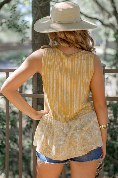 See the Sunshine Sleeveless Top - Mustard