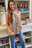 Seeing Spots Polka Dot Top - Taupe