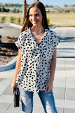 Show Your Spots Dalmatian Print V-Neck Top - Off White