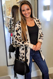 Show Me Love Leopard Print Cardigan - Taupe