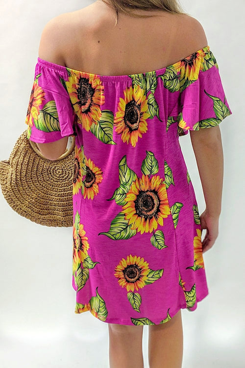 Show Me Sunshine Dress - Fuchsia Mix