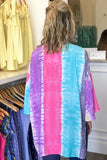 Show the Love Tie-Dye Kimono - Gray/Mint