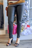 Sienna Skinny Leather Leggings - Black