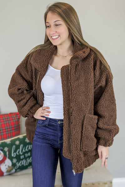 Snuggle Me Close Teddy Bear Jacket - Brown