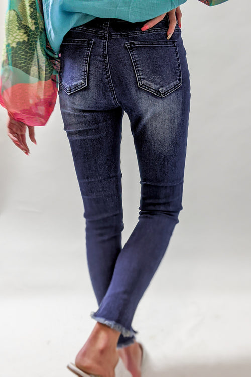 Sofia Distressed Skinny Jeans - Denim
