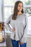 Soft Embrace Brushed Sweatshirt - H. Gray