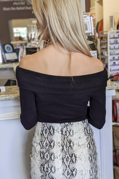 Someone to Love Off Shoulder Top - Black