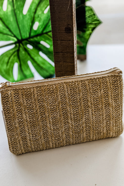 Sophie Woven Straw Cross Body Bag - Natural