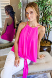 Start the Trend Sleeveless Top - Hot Pink