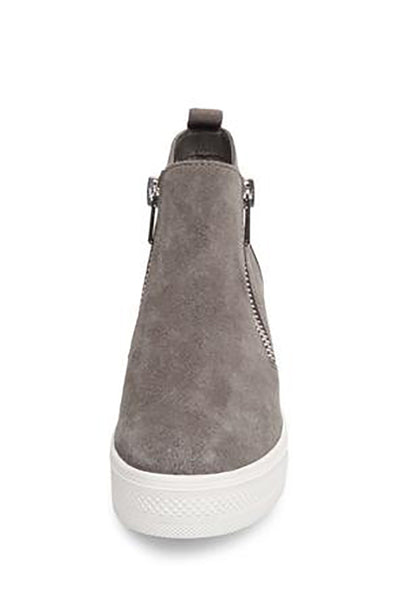 98e364b4113 Steve Madden Wedgie Sneakers - Gray Suede