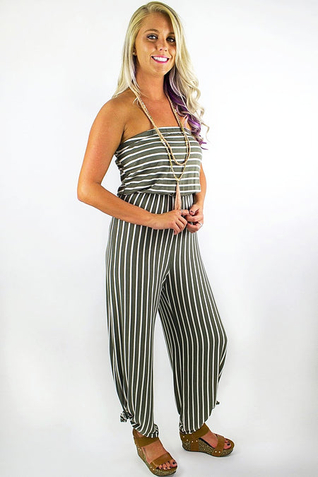 Keep Your Cool Maxi Romper - Navy