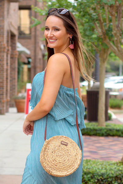 Summer Adventures Strapless Jumpsuit - Dusty Blue