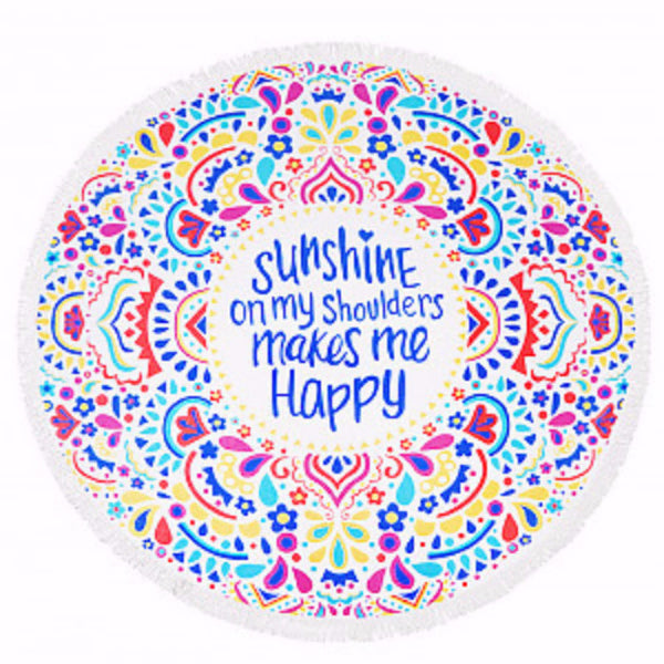 Round Beach Towel - Sunshine on My Shoulders