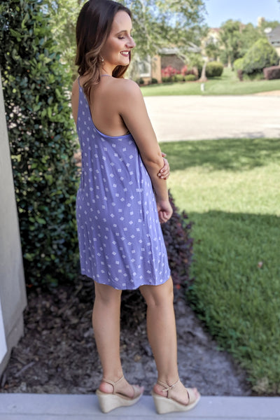 Sweet Summertime Tunic Dress - Blue