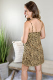 Sweet & Wild Leopard Print Dress - Brown