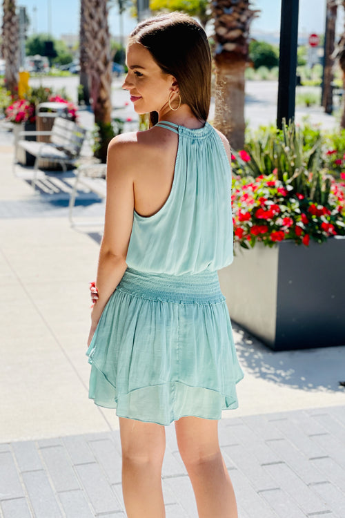Sweeter Dreams Tassel Detail Mini Dress - Mint