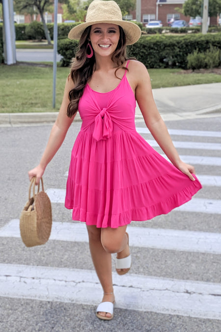 Sweet Innocence Dress - Coral