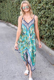 Take Me to the Tropics Midi Dress - Seafoam Mix