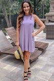 Take it Easy Swing Dress - Lavender