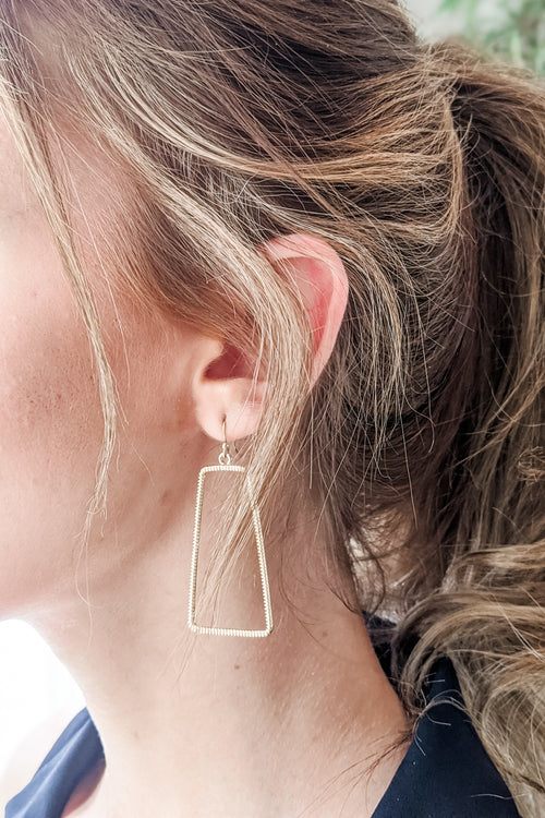 Textured Trapezoid Earrings