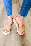 The Ariana Scalloped Espadrilles - Camel