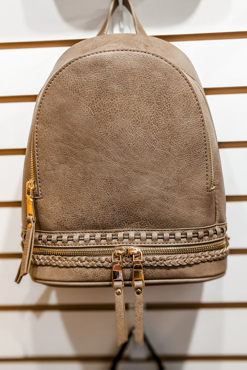 The Bella Backpack - Taupe